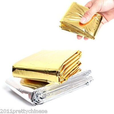 Foil Space Emergency Survival Blanket Thermal Rescue First Aid Silver Gold New