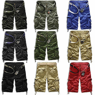 Mens Military Army Combat Trousers Tactical Work Pocket Camo Pants Cargo 30-36