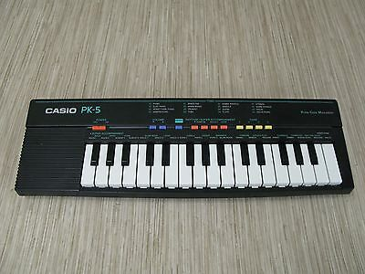 Casio PK-5 Keyboard Music Musician Beats Tone Rhythm Tempo Produce Notes
