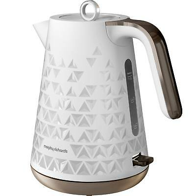 Morphy Richards White Kitchen Cordless PRISM Jug Kettle 108252, 3kW, 1.5 Litre