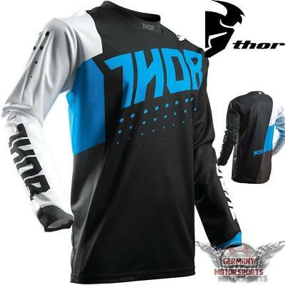 Motocross Shirt Jersey Trikot Blau Thor Pulse Aktiv Cross Enduro Quad Offroad Mx