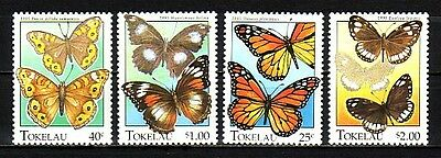 """ Tokelau Islands, Scott cat. 213-216. Butterflies issue."