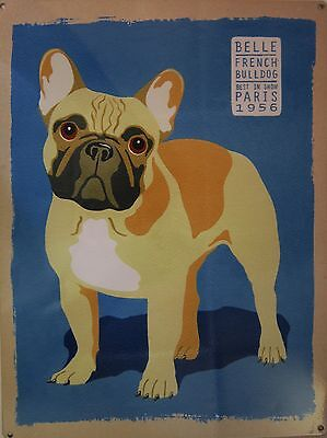 Belle French Bulldog Metal Sign