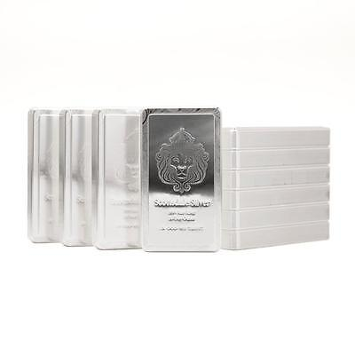 10 x 10 oz .999 Silver STACKER® Bars by Scottsdale Mint 100 troy oz total #A183