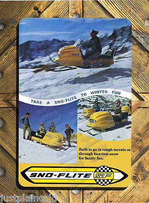 Sno Flite snowmobile vintage brochure wall sign reproduction