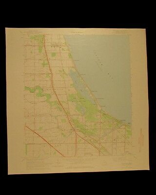 Kawkawlin Michigan vintage 1968 original USGS Topographical chart