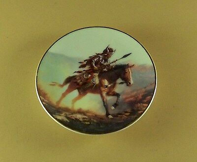 SPIRIT OF THE PLAINS Mystic Warrior Miniature Plate Indian Native American Mini