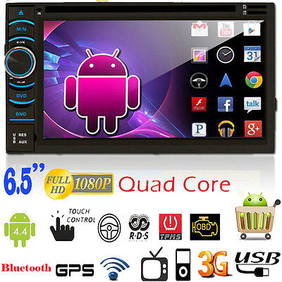 GPS WIFI Android Car Double DIN USB/SD/AUX/MP3 CD DVD Player FM Touch Bluetooth