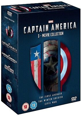CAPTAIN AMERICA 1-3 2011-2016: MARVEL Avenger Winter Soldier Civil R2 DVD not US