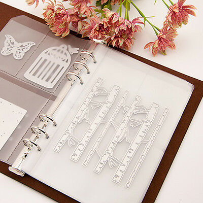 Cutting Dies Stencil Template Collect Binder Loose-leaf Leather Cover Book DIY