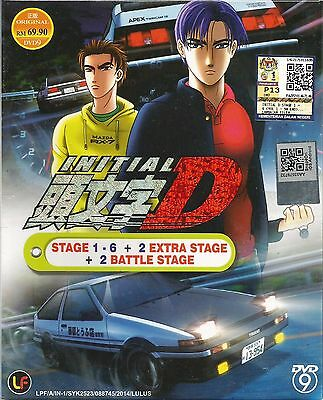 Anime DVD Initial D Stage 1-6 +2 Battle Stage +2 Extra Complete Japan Box Set