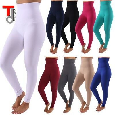 bc9ec288bf180f Lady Warm Winter High Waist Fleece Lined Thick Brushed Footless Leggings  Pants