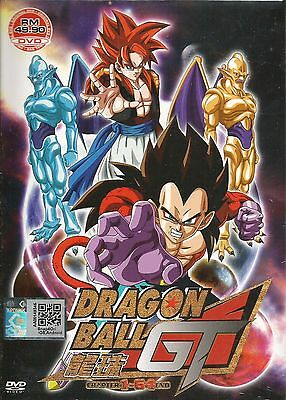 Anime DVD Dragon Ball GT Vol.1-64 End Complete Animation English Audio Box Set