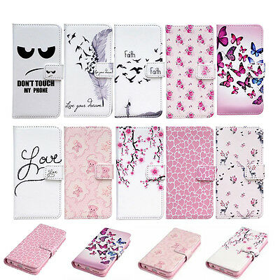New Pattern Magnetic Leather Wallet Case Flip Stand Cover For iPhone 6s 6 Plus 5