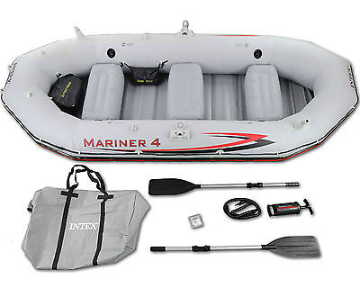 2016 Model Intex Mariner 4 with High Output Pump and Oars 4 person dinghy #68376