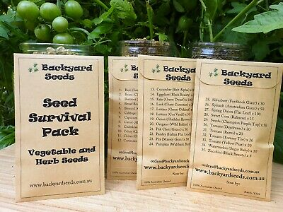 The Seed Survival Pack: 35 Heirloom Vegetable and Herb Seed Packets