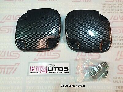 SUBARU Fog Lamp Covers Impreza STi 92-98 Bumper.Carbon effect. HT Autos UK.