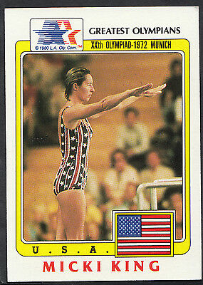 Topps 1983 Greatest Olympians - Card No 38 - Springboard Diver Micki King - USA
