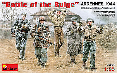 """MiniArt 1/35 35084 WWII """"Battle of the Bulge"""" ARDENNES 1944 (5 Figures)"""