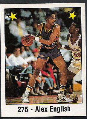 Panini NBA Basketball 1989 Sticker - No 275 - Alex English (GD)