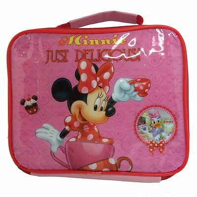Disney Minnie Mouse Insulated Thermal Lunch Bag Box School Pink Just Delicious