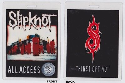 SLIPKNOT World Domination 1999-2000 World Tour - Backstage Pass Laminate - Crew
