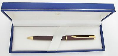 Waterman Executive Marble Tortoise & Gold Ballpoint Pen New In Box
