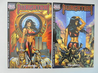 2x Purgatori - The Hunted - # 1+ 2 (von 2) Chaos! Comics / Z. 1/1-