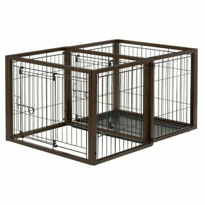 2-In-1 SAFE PET DOG CRATE & PLAY PEN TRAINING for SMALL BREED DOGS to 17.6 lbs