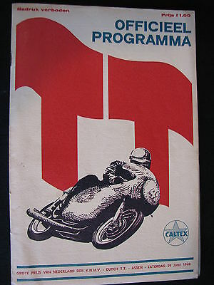 Program Dutch TT Assen 29 juni 1968 (TTC)