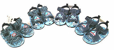Soft Touch  Boys Nautical  Soft Sandals With Side Fastening 3 Sizes 3 Colours