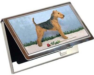 Airedale Terrier Business Card / Credit Card Case