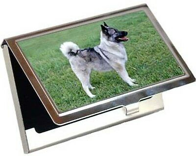 Norwegian Elkhound Business Card / Credit Card Case