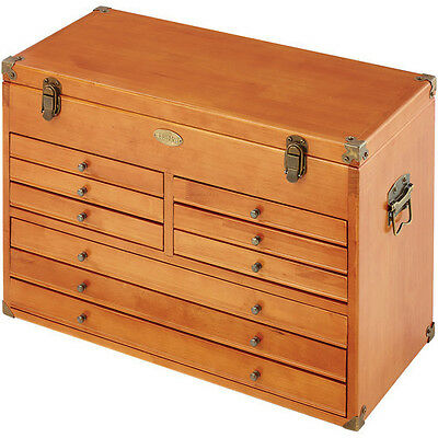 Clarke Cmw-9 9 Drawer Wooden Woodworkers Machinist Tool Chest 7635400
