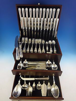 Fiddle Thread & Shell by James Robinson Sterling Silver Flatware Dinner Set Huge