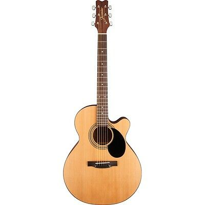 New Jasmine S34C NEX Grand Orchestra Body Acoustic Guitar, Natural + Ships Free