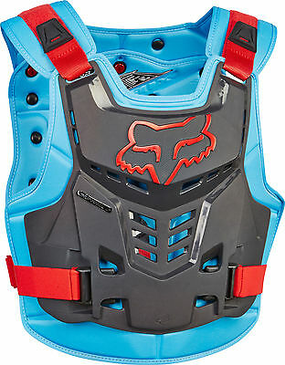 Fox MX Proframe LC Blue / Red Adult Chest Protector/Roost Guard/Deflector ATV