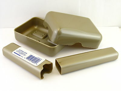 Goody Plastic Soap Dish & Toothbrush Holder - Tan