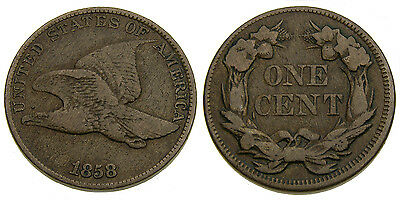1858 USA Flying Eagle Cent F-15