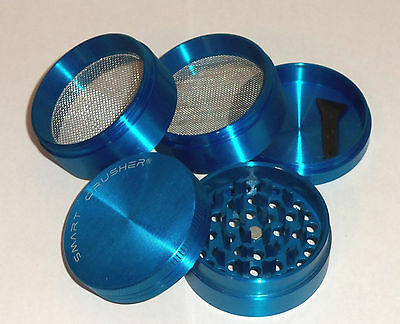SMART CRUSHER 5 Piece Blue Titanium Magnetic Coffee Spice Tobacco Herb Grinder