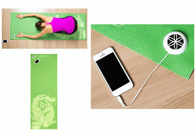 Gaiam Yoga Mat w/ Speaker/AUX Cable/Fitness/Exercise for Music iPod/iPhone/MP3