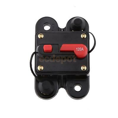 Car Auto Marine Inline Circuit Breaker 120AMP Manual Reset Audio Fuse Holder