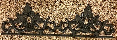 Vintage Antique Outside Home Decor Cast Iron Ivy Leafs Black