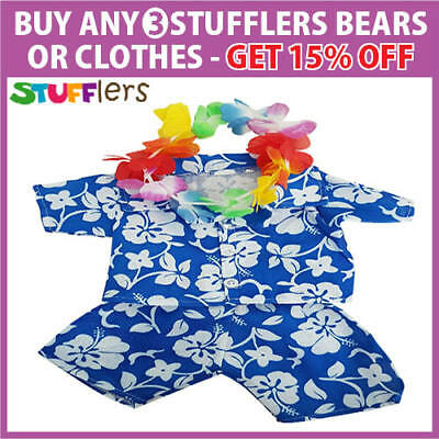 Hawaiian Clothing Outfit by Stufflers – Will fit on a Build a bear