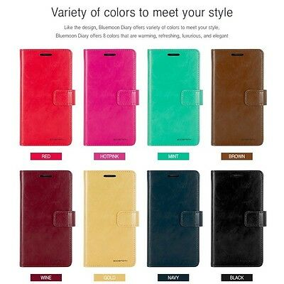 Korean Mercury Blue Moon Diary Wallet Case For Samsung Galaxy Note 7 - Hot Pink