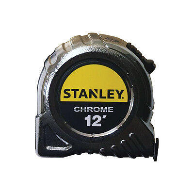 """Stanley Chrome 12' Tape Measure 1.5"""" Wide"""