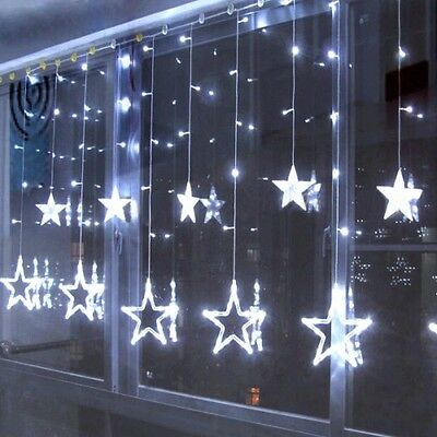 Curtain Window Star String Fairy Light 2.5M 138LED for Wedding Party Christmas