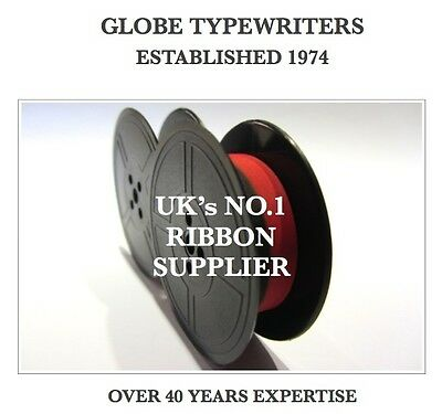 1 x '440TR' *BLACK/RED* TOP QUALITY *10 METRE* TYPEWRITER RIBBON + *EYELETS*