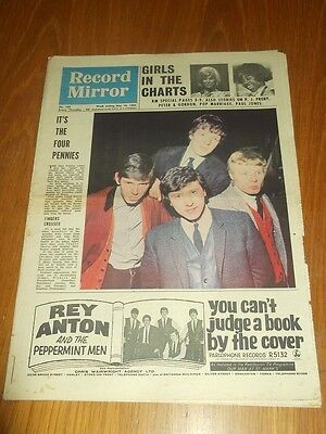 Record Mirror #166 May 16 1964 The Four Pennies P J Proby Paul Jones