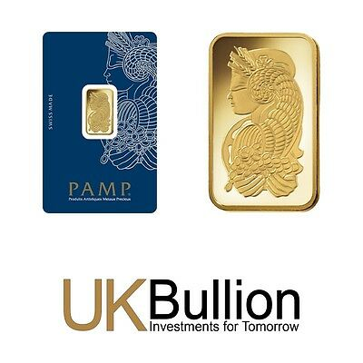 Pamp Fortuna 5g (Gram) Gold Bar 999.90 FREE INSURED DELIVERY